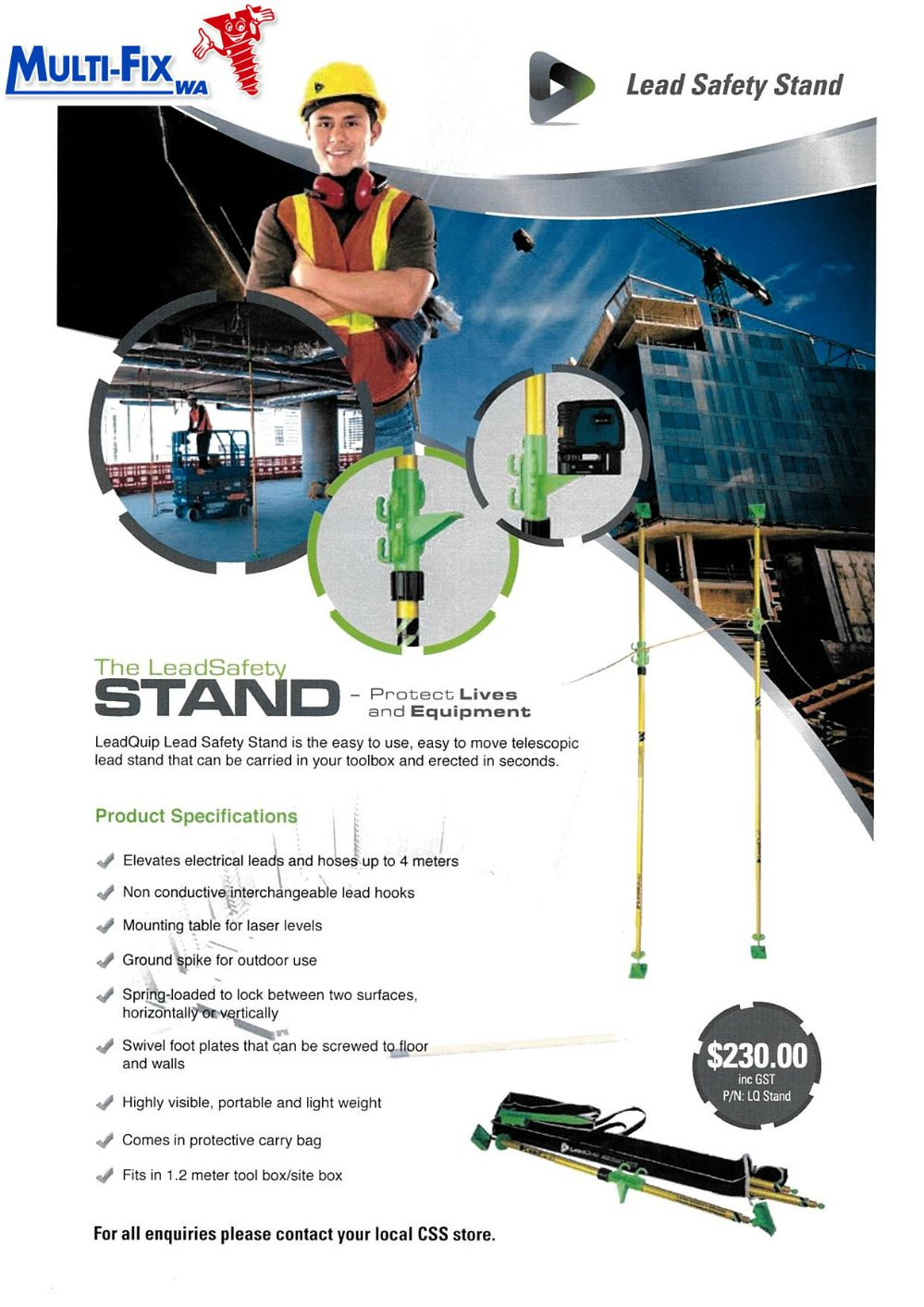 Lead Safety Stand